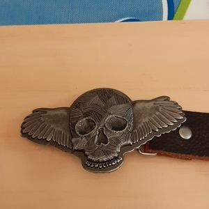 Vintage Guess belt with skull buckle